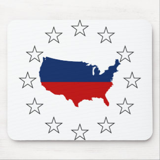 USA All Red White & Blue Mouse Pad