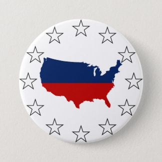 USA All Red White & Blue Pinback Button