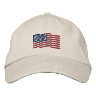 USA America Flag Stars 'n Stripes Embroidered Cap