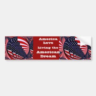 USA,America Love_ Car Bumper Sticker