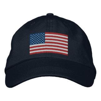 USA America Patriotic Embroidered Hat
