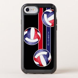 USA America red white and blue women's volleyball Speck iPhone Case