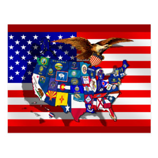 USA America State flag Postcard
