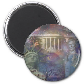 USA - America the Beautiful! 2 Inch Round Magnet