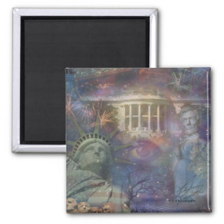 USA - America the Beautiful! 2 Inch Square Magnet