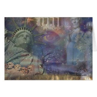 USA - America the Beautiful! Card