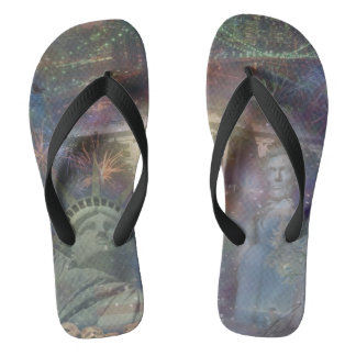 USA - America the Beautiful! Flip Flops