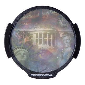 USA - America the Beautiful! LED Window Decal