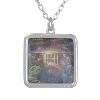 USA - America the Beautiful! Silver Plated Necklace