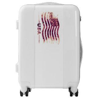 USA America Travel Carry On, White, White Luggage