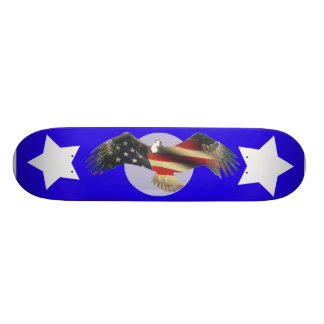 USA American Bald Eagle flag fade Skateboard Deck