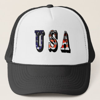 USA American Baseball Trucker Hat