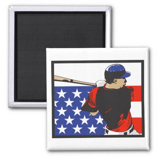 USA american baseball vector design 2 Inch Square Magnet