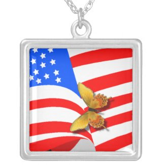 USA American Butterflies Necklaces