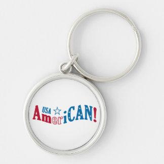 USA AmeriCAN! custom key chain