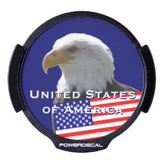 USA American Eagle LED Window Decal