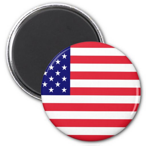 USA - American Flag 2 Inch Round Magnet
