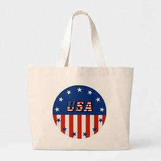 USA - American Flag and Stars in Circle Bag