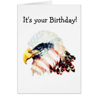 USA American Flag Bald Eagle Design Card