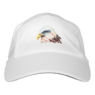 USA American Flag Bald Eagle Design Headsweats Hat