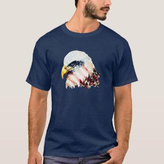USA American Flag Bald Eagle Design T-Shirt