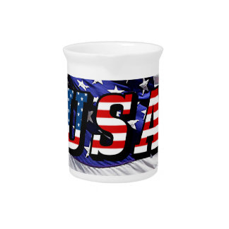 USA - American Flag Beverage Pitcher