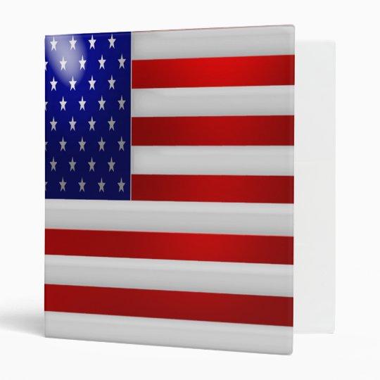 USA American Flag Binder