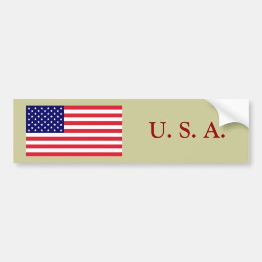 USA - American Flag Bumper Sticker
