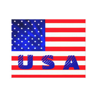 USA American Flag Canvas Art
