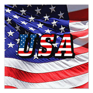 USA - American Flag Card