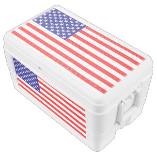 USA American Flag Chest Cooler