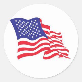 USA/American Flag Classic Round Sticker