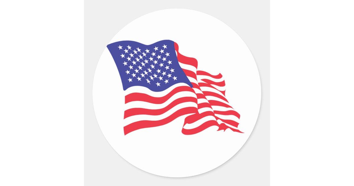 Usa american flag classic round sticker zazzle for American classic usa
