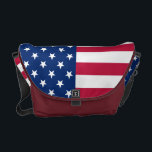 "USA American Flag Commuter Travel Messenger Bag<br><div class=""desc"">The all American, Stars and Stripes, Old Glory, Star-Spangled Banner, USA flag, custom, personalized, water resistant, extra durable, lightweight, commuter travel messenger bag, to show your pride, patriotism, love. Great for Independence Day 4th of July gift, Memorial Day celebrations, armed forces celebration, and more. Makes a great patriotic gift for...</div>"