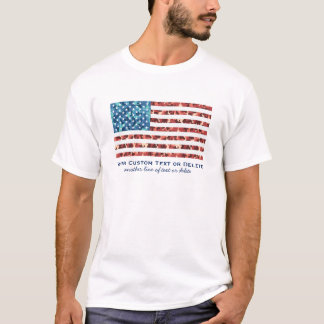USA American Flag Cool Camouflage Patriotic Custom T-Shirt