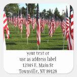 USA American Flag Corner Flag Memorial Stickers