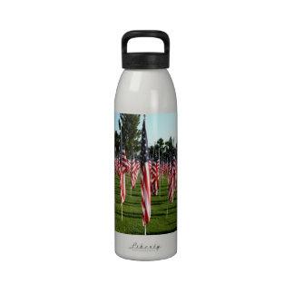 USA American Flag Corner Flag Memorial Reusable Water Bottles