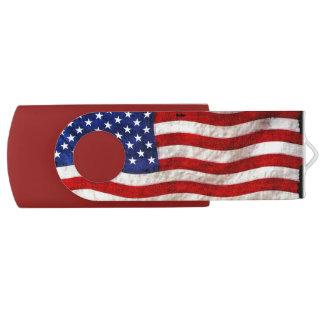 USA American Flag Designer Flash Drive