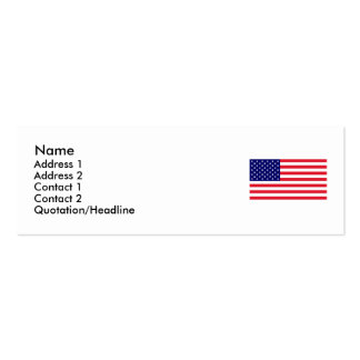 USA - American Flag Double-Sided Mini Business Cards (Pack Of 20)