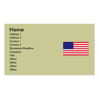 USA - American Flag Double-Sided Standard Business Cards (Pack Of 100)