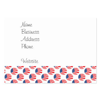 USA American Flag Fourth of July Patriotic Large Business Cards (Pack Of 100)