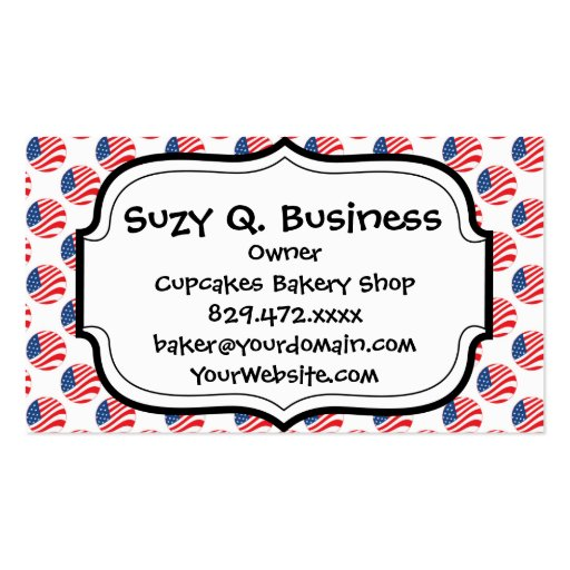 Usa american flag fourth of july patriotic business card for Patriotic business card template