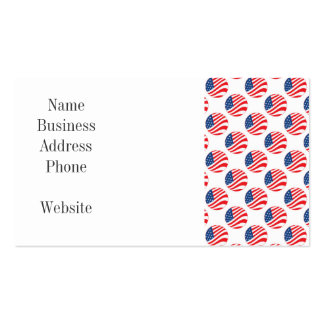 USA American Flag Fourth of July Patriotic Double-Sided Standard Business Cards (Pack Of 100)