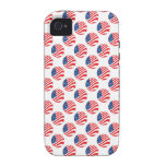 USA American Flag Fourth of July Patriotic Case-Mate iPhone 4 Covers