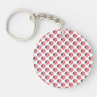 USA American Flag Fourth of July Patriotic Keychain