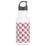 USA American Flag Fourth of July Patriotic 18oz Water Bottle