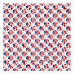 USA American Flag Fourth of July Patriotic Poster