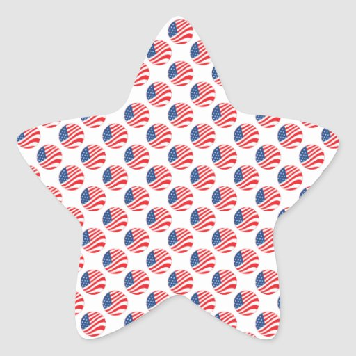 USA American Flag Fourth of July Patriotic Star Sticker