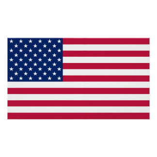 USA American Flag Home Office Wall Decor L Poster
