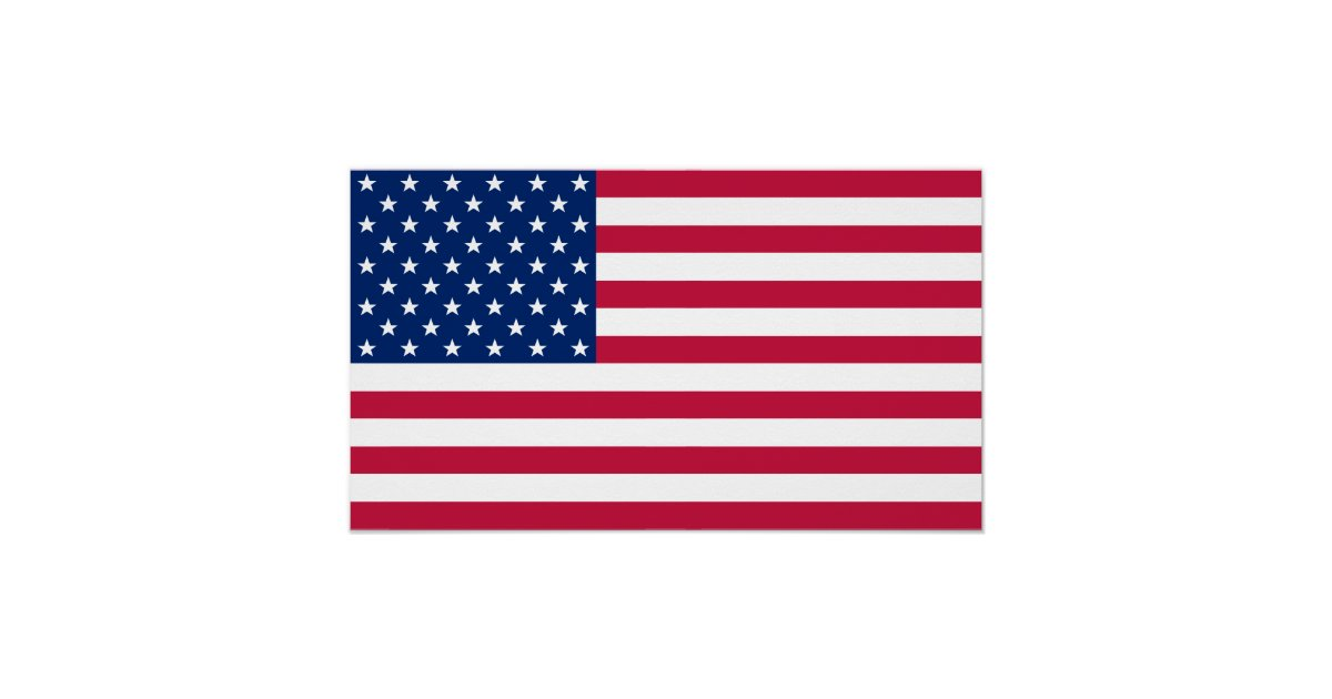USA American Flag Home Office Wall Decor S Poster Zazzle